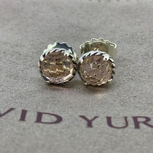 David Yurman Chatelaine Earrings Morganite